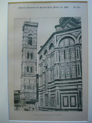 Giotto's Tower & Cathedral , Florence, Italy, EUR, 1890, Giotto