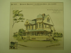 Residence of Mrs. Isabelle Nash , Bridgeport, CT, 1889, T. Beardsley, Jr.