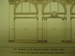 Woman's Club on Beacon Street , Boston, MA, 1899, C. H. Blackall and Josephine Wright Chapman