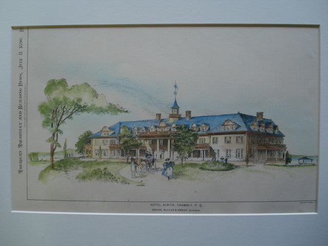 Hotel Albion, Chambly, Quebec, CAN, 1896, Brown, McVicar & Heriot