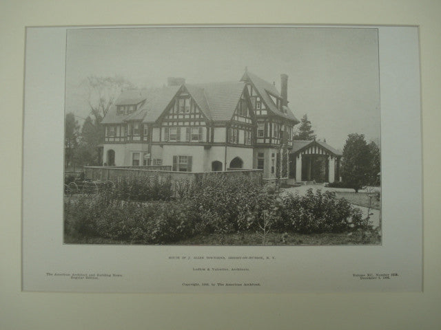 House of J. Allen Townsend , Ardsiey-on-Hudson, NY, 1906, Ludlow & Valentine