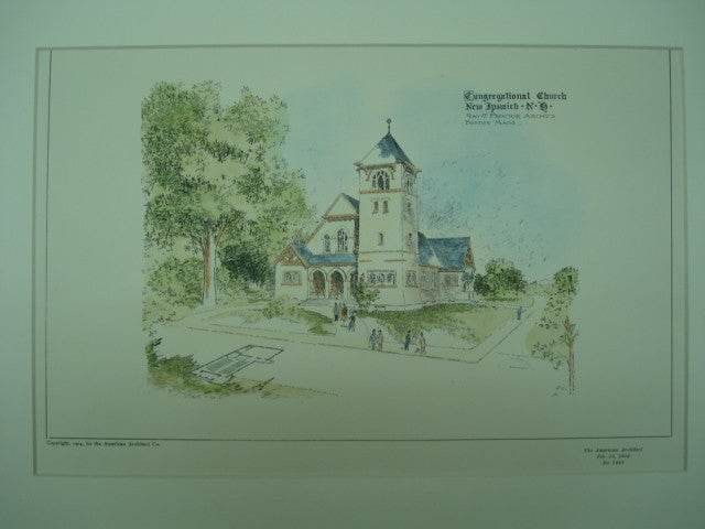 Congregational Church , New Ipswich, NH, 1904, Gay & Proctor