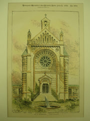 Chapel of the Charity Hospital , Lille, France, EUR, 1893, M. A. Mourcou