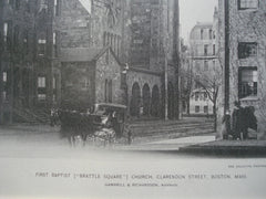 First Baptist [Brattle Square] Church on Clarendon Street , Boston, MA, 1894, Gambrill & Richardson