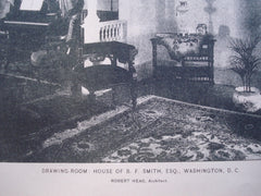 Drawing-Room in the House of B.F. Smith, Esq. , Washington, DC, 1896, Robert Head