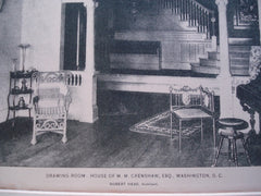 Drawing-Room in the House of M.M. Crenshaw, Esq. , Washington, DC, 1896, Robert Head