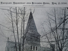 Episcopal Church of the Prince of Peace , Wallbrook, MD, 1896, J.A. & W.T. Wilson