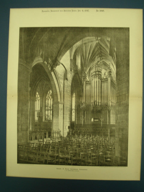 Organ in St. Giles' Cathedral , Edinburgh, UK, 1897, J. M. Johnstone
