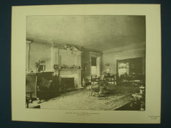 Parlor in the House of C. C. Febiger, Esq. , Philadelphia, PA, 1902, Horace Sellers