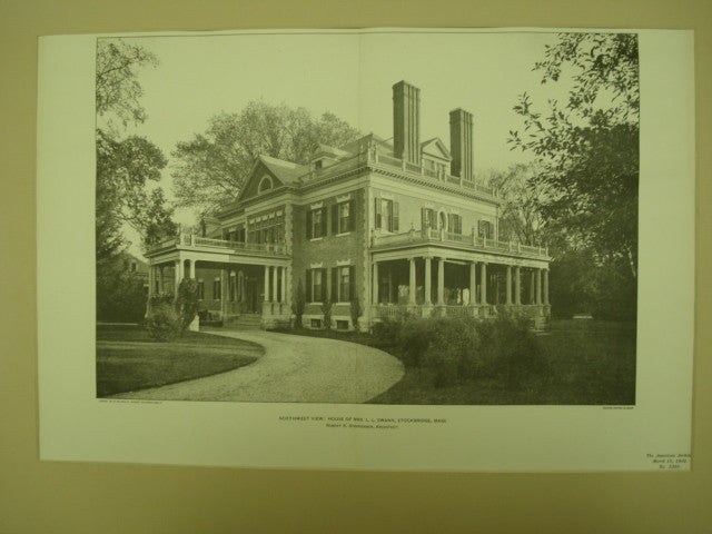 House of Mrs. L. L. Swann , Stockbridge, MA, 1902, Robert S. Stephenson