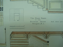 Front Stairs in the Brenton House , Newport, RI, 1896, P. G. Gulbranson