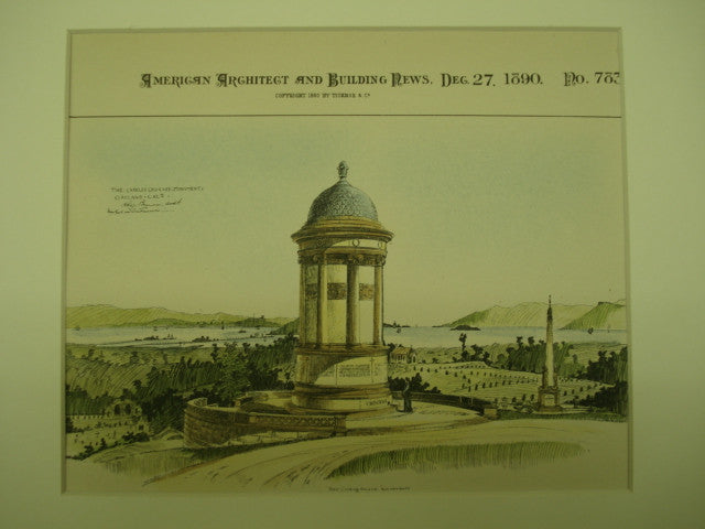 Charles Crocker Monument , Oakland, CA, 1890, Arthur Page Brown