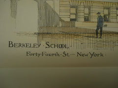 Berkeley School on Forty-Fourth Street , New York, NY, 1890, Lamb and Rich