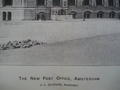 New Post Office , Amsterdam, Netherlands, EUR, 1898, J.L. Cuypers