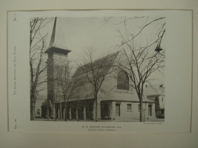 Methodist Evangelical Church , Evanston, IL, 1890, Burnham & Root