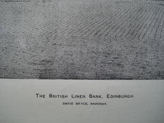 British Linen Bank , Edinburgh, Scotland, UK, 1898, David Bryce