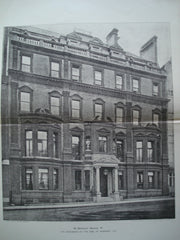 38 Berkeley Square W., the Residence of the Earl of Rosebery, K.G. , London, England, UK, 1898, Unknown