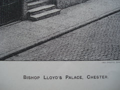 Bishop Lloyd's Palace , Chester, England, UK, 1898, Unknown