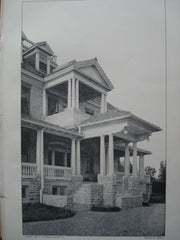 Entrance Porch: House of J.J. Rogers, Esq., Wyncote, PA, 1903, Adin B. Lacey