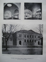 Ralph Voorhees Library, Rutger's College , New Brunswick, NJ, 1904, Henry Rutgers Marshall