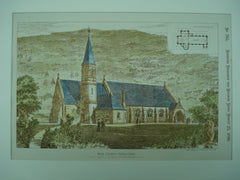 New Church , Ystalyfera, Wales, UK, 1890, Messrs. J. Buckley Wilson & Glendenning Moxham
