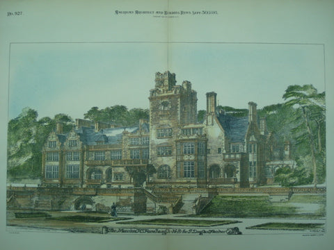 Mansion for J. Douglas Fletcher, Rosehaugh, UK, 1893, Unknown