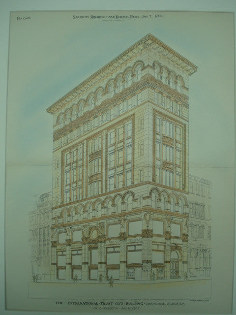 International Turst Co.'s Building on Devonshire St., Boston, MA, 1893, W. G. Preston
