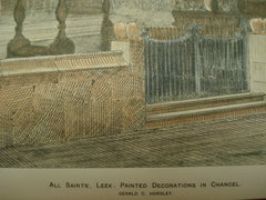 Painted Decorations in the Chancel of All Saints' Church , Leek, England, UK, 1891, Gerald C. Horsley