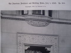 Doorway to the House of T.E. Proctor, Esq. in 273 Commonwealth Avenue , Boston, MA, 1893, Hartwell & Richardson