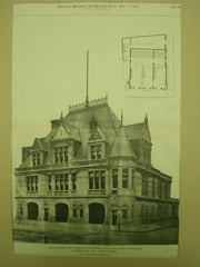 Engine-House and Battalion Quarters of the New York Fire Department, New York, NY, 1896, N. Le Brun & Sons