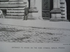 Entrance to the House of the Voss Strasse , Berlin, Prussia, EUR, 1892, Unknown