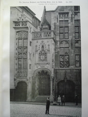 Entrance to the Library , Bruges, Belgium, EUR, 1892, Unknown