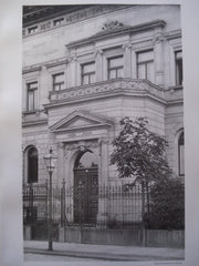 Entrance to the Residence of Herr Gebhard , Leipsic, Saxony, Germany, EUR, 1892, A. Rossbach