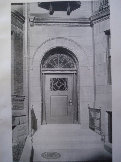 Entrance to the House of Francis B. Rice, Esq. on Beacon Street , Boston, MA, 1892, Fehmer & Page