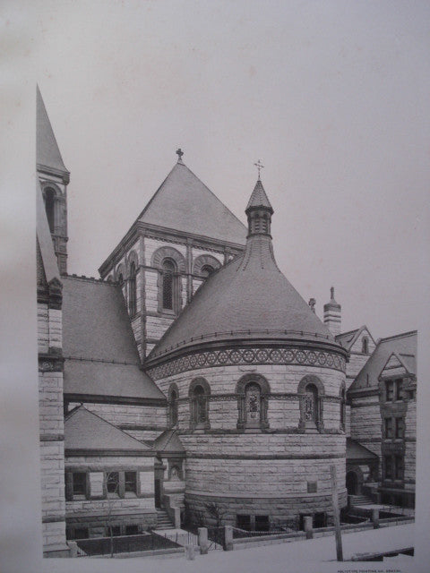 Apse of St. Agnes's Chapel on Ninety-Second St., New York, NY, 1892, W.A. Potter