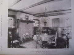 Dining Room in Residence of E.E. Gray , Chicago, IL, 1890, Geo. W. Maher