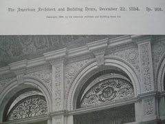 Main Staircase: Metropolitan Life Insurance Building on Madison Avenue and Twenty-Third Street, New York, NY, 1894, N. LeBrun & Sons