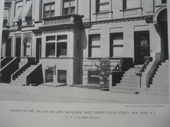 Houses of Mrs. Miller and Mrs. McGucken on West Seventy-Sixth Street , New York, NY, 1894, C.P.H. Gilbert