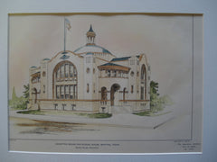 Accepted Design for a School House , Whiting, TX, 1904, Glenn Allen