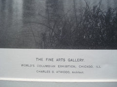 Fine Arts Gallery for the World's Columbian Exhibition , Chicago, IL, 1892, Charles B. Atwood