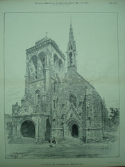 Church of Locronan , Brittany, France, EUR, 1896, Unknown