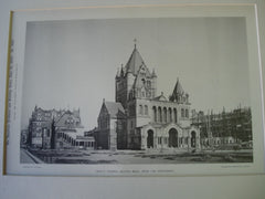 Trinity Church from the Northwest, Boston, MA, 1893, unknown