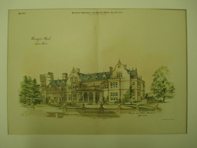 Ventfort Hall , Lenox, MA, 1894, Rotch and Tilden