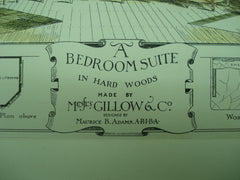 Bedroom Suite in Hard Woods made by Messrs. Gillow & Co., 1882, Maurice B. Adams