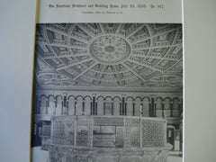 Crocker-Walworth Banking-Room, Crocker Building, San Francisco, CA, 1893, A.Page Brown