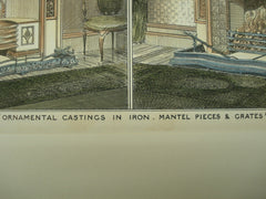 Ornamental Castings in Iron, Mantel Pices & Grates, 1882, Maurice B. Adams