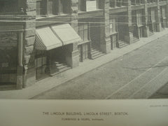 The Lincoln Building, Lincoln Street, Boston, MA, 1887, Cummings & Sears
