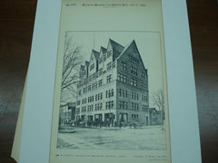 Business University Building, Detroit, MI, 1892, Mason & Rice