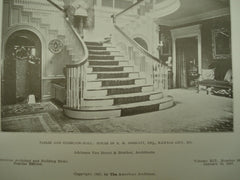 Parlor and Staircase-Hall: House of R.M. Goodlett, Esq., Kansas City, MO, 1907, Adriance Van Brunt & Brother