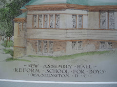 New Assembly Hall for the Reform School for Boys , Washington, DC, 1900, Marsh and Peter